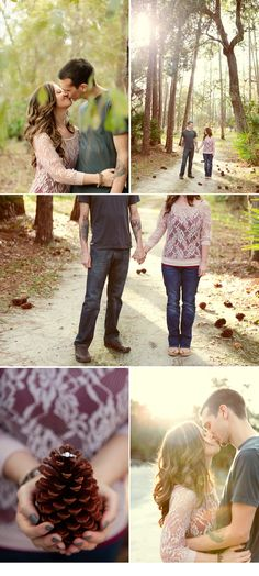 Engagement Session Inspiration Forest Rustic