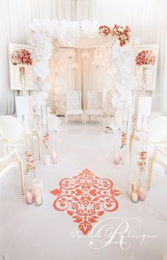 paper flower chuppah by Rachel A. Clingen  photo credit @Patricia Smith Price-Fullard Photography
