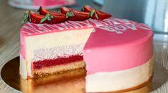 Муссовый клубничный торт | Mousse Strawberry Cake  https://www.youtube.com/watch?v=-Qn4VNrhTaM