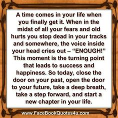 Today, step forward and start a new chapter of your life. ★❤★