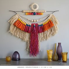 Embroidery Materials, Embroidery Art, Embroidery Designs, Rope Decor, Diy And Crafts, Arts And Crafts, Macrame Wall Hanging Diy, Macrame Patterns, Boho Diy