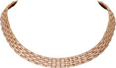 CRN7408600 - Maillon Panthère thin necklace, 5 diamond-paved rows - Pink gold, diamonds - Cartier