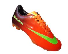 Chuteira Nike Mercurial Vortex Laranja e Preto MOD 10722 Chuteiras 4fe6dd638700d