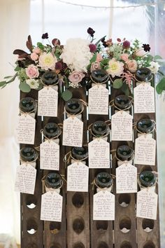 Vintage Wine English Winery Wedding by Hannah McClune Photography - Be inspired by Maddy Wedding Table Centerpieces, Wedding Flower Arrangements, Wedding Flowers, Wedding Decorations, Centerpiece Ideas, Centerpiece Flowers, Wedding Themes, Wedding Events, Wedding Ceremony