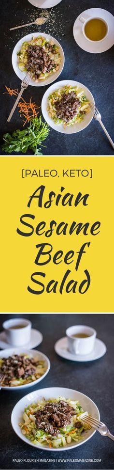 Asian Sesame Beef Salad Recipe [Paleo, Keto] #paleo #keto #recipes - https://paleomagazine.com/asian-sesame-beef-salad-recipe-paleo-keto