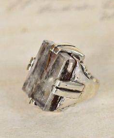 Silver w/ Chlorite Babylon Ring
