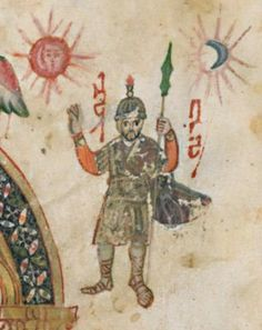 The Rabbula Gospels folio 4r, detail with Joshua, Syria, 6th Century