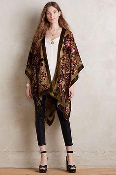 Anthropologie-Bournon Velvet Kimono