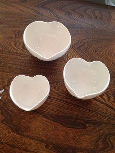 Handmade porcelain trinket/tea light bowls by ceramicist Elaine Jones