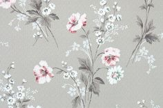 Items similar to Vintage Wallpaper - Floral Wallpaper with Pink and White Flowers on Light Brown on Etsy Vintage Wallpaper Patterns, Pattern Wallpaper, Vintage Patterns, Floral Patterns, Room Wallpaper, Flower Wallpaper, Latex, Pink And White Flowers, Vintage Colors