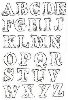 Wiggly Alphabet Outline by Judy's Creative Doodling, via Flickr