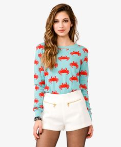 Soooo someone needs to get me this. Like, need to. @Joe Krabbe Crab Print Sweater | FOREVER21 - 2021716745
