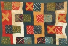 "Half of a Mantle (Peru / Huari (Wari) Culture) 700 – 1000 AD; 37 ½"" X 55 ¼""; Camelid Wool; Discontinuous Warp & Weft Plain Weave. Photo cour..."