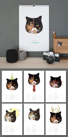 Pudge the Cat Calendar with stickers