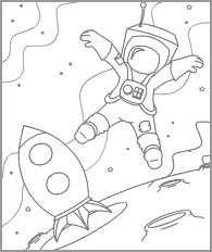 Funschool - Space - Space Coloring Pages