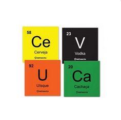 Os porta-copos de elementos químicos. | 38 itens de cozinha que todo nerd vai amar