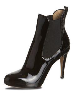 eva turner Lack-Stiefeletten Peeps, Peep Toe, Shoes, Fashion, Moda, Zapatos, Shoes Outlet, Fashion Styles, Shoe