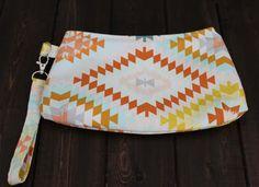 Southwest Style Wristlet Small purse by TheAmberRoseEmporium