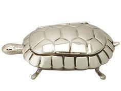 Sterling Silver 'Tortoise' Trinket Box/Compact - Antique Edwardian http://www.acsilver.co.uk/shop/pc/Sterling-Silver-Tortoise-Trinket-Box-Compact-Antique-Edwardian-35p8959.htm