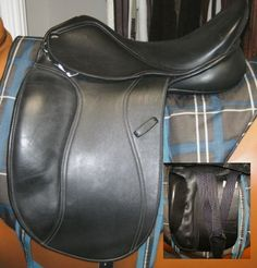 A big collection of equestrian dressage saddles!