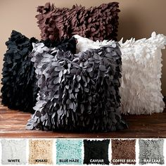 Prove that neutral colors need not be dull with this unique decorative pillow. Pick a color that contrasts nicely with your existing furnishings and enjoy how its texture and the subtle play of light on the cascading scales turns up the oomph factor.