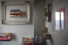 Floating Bookshelves: Add a new twist to the ubiquitous Invisible Floating Shelves ($13.95) by turning your artful literature into wall art, like Su Casa member SoCalSugar did.