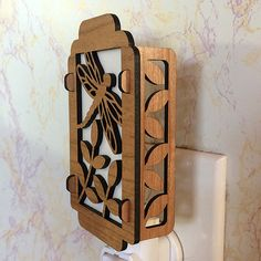 Dragonfly Night Light Lead Boxes, Rocket Lamp, Dragonfly Wall Art, Laser Cut Box, Stage Set Design, Wooden Lamp, Nightlights, Scroll Saw, Wooden Crafts
