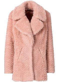 Giaccone in pelliccia ecologica, RAINBOW, Grigio chiaro