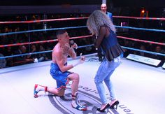 Photos: South African Boxer Marj Farah Proposes To His Girlfriend Inside Boxing Ring On Her Birthday