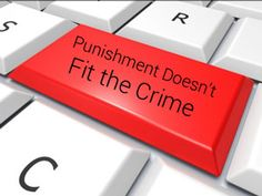 The punishment doesn't fit the crime when it comes to internet sexual exploitation.  Image courtesy of Stuart Miles / FreeDigitalPhotos.net