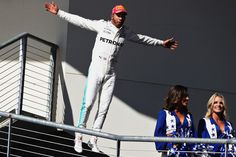 Lewis Hamilton Photos - Race winner Lewis Hamilton of Great Britain and Mercedes GP celebrates on the podium during the United States Formula One Grand Prix at Circuit of The Americas on October 22, 2017 in Austin, Texas. - Lewis Hamilton Photos - 104 of 29018