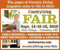 Country Living Fair, Columbus, Ohio, September 14-16, 2012
