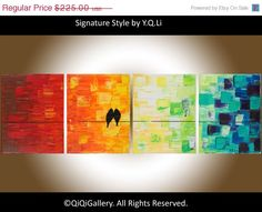 Original painting  Heavy Texture Impasto Palette by QiQiGallery