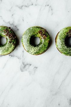 Chocolate Donuts with Matcha Glaze   TENDING the TABLE