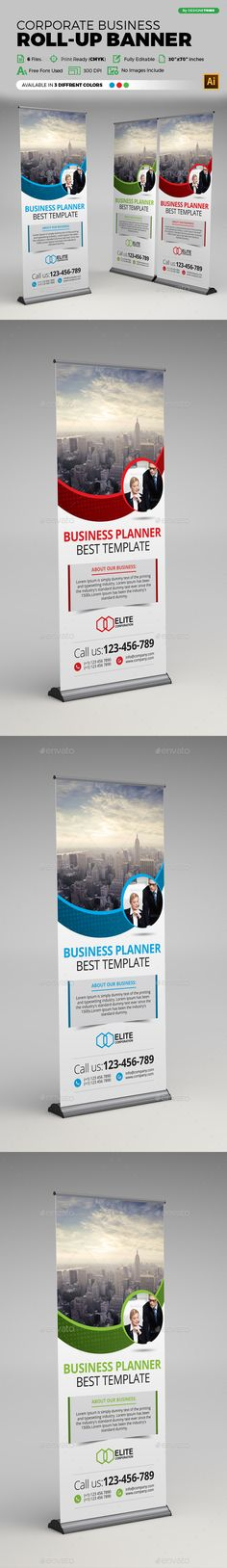 Corporate Business Roll-up Banner Template Vector EPS, AI #design Download: http://graphicriver.net/item/corporate-business-rollup-banner/14156759?ref=ksioks