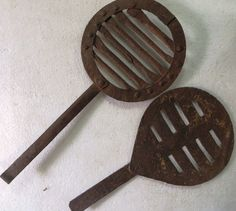 Vintage Iron jali with Handle part kitchen Sigri FIRE PIT Water Boiler ? 2pcs   #handmade