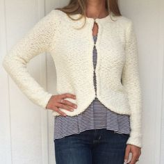 NEW Cream cardigan Adorable very soft cream cardigan • front hook closure Jack by BB Dakota Sweaters Cardigans