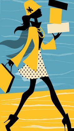 vector illustration #vectorgirl #shopping #shanashay #vectorillustration