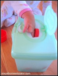 Easy Fine Motor Activity For Babies from Stay at Home Educator