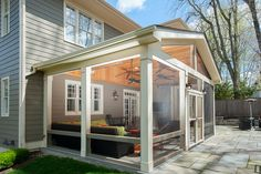 Screened Porch Designs, Screened In Patio, Backyard Patio Designs, Back Patio, Front Porch, Porch Kits, Porch Ideas, Patio Ideas, Covered Patio Design
