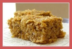 A pinned said: Super Banana Oat Bars (Healthy Sweet Snack!) - Go Dairy Free***a bunch of kids ate these up too. They were really good and super easy. Healthy Sweet Snacks, Healthy Sweets, Oat Slice Healthy, Healthy Oat Recipes, Healthy Oat Bars, Healthy Muffins, Protein Recipes, Oatmeal Recipes, Rice Krispies