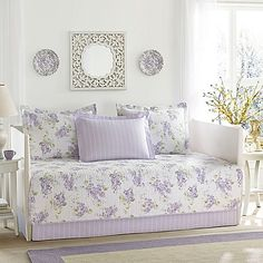 Laura Ashley® Keighley Daybed Set in Purple