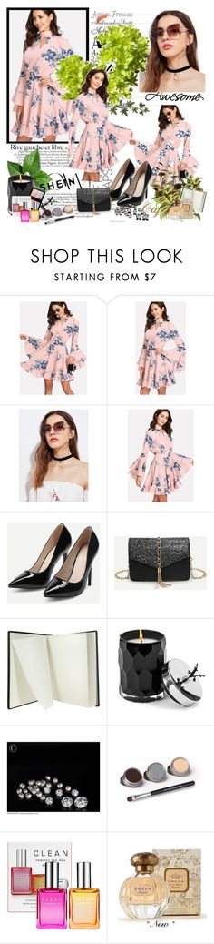 """SHEIN 10/10"" by eldina12 ❤ liked on Polyvore featuring Pineider, Votivo, Bare Escentuals, CLEAN, Tocca and Illamasqua"