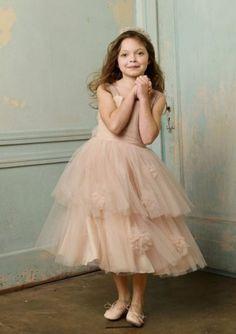 Pretty pale pink flower girl dress