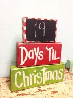 2015 Wooden Chalkboard Christmas Outdoor Decor, Christmas Reindeer Signs, Wooden Christmas Decorations - LoveItSoMuch.com