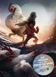 mas buenas las #ilustraciones egoFM: Frightened Rabbit, Pigeon John, Colombus, TNT Jackson