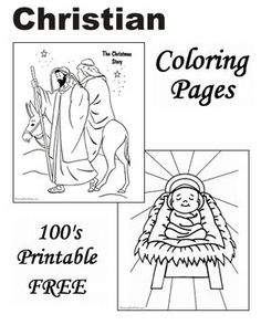 The Christmas Story Coloring Pages Are Just A Few Of Christian In This