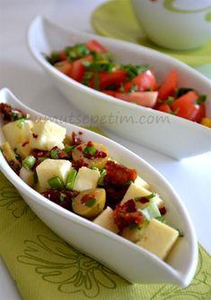 kahvaltı salatası Turkish Breakfast, Breakfast Tea, Ramadan, Turkish Recipes, Ethnic Recipes, Classic Salad, Appetisers, Casserole Recipes, Finger Foods