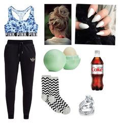 Ootn by troi-akniyaa on Polyvore featuring adidas Originals, HOT SOX, Victoria's Secret, Bling Jewelry and Eos