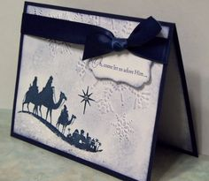 Handmade Christmas Card Stampin Up COME TO BETHLEHEM - Wise Men Silhouette. $4.50, via Etsy.